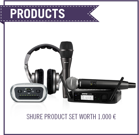 Vocal Mastery Prizes: Win Shure Products worth 1.000 €